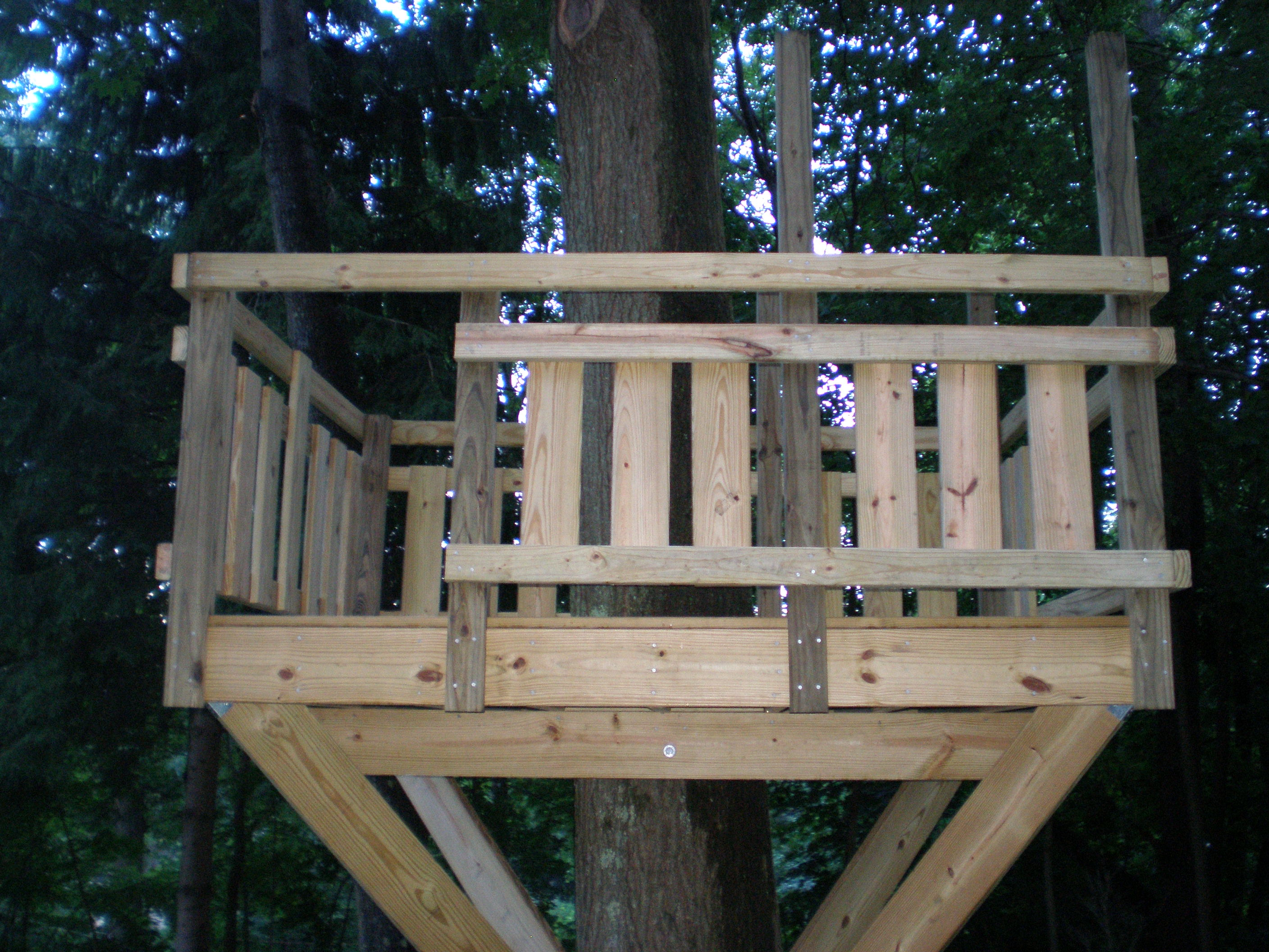 Tree Fort Deck Amp Railing Village Custom Furniture